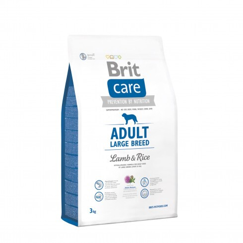 Brit Care Hypo-Allergenic Adult Large Breed Lamb & Rice 3 kg
