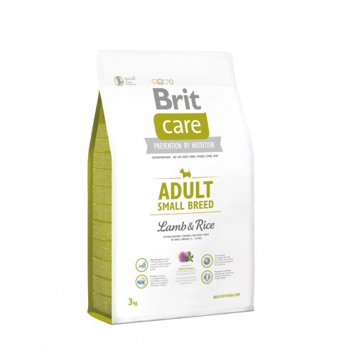 Brit Care Hypo-Allergenic Adult Small Breed Lamb & Rice 3kg