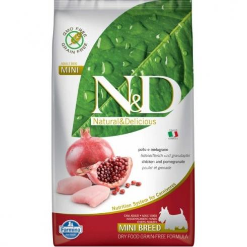 N&D Dog Grain Free csirke&gránátalma adult mini 2,5kg