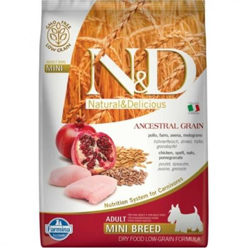 N&D Dog Low Grain csirke&gránátalma adult mini 7kg