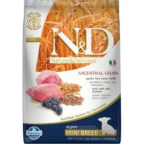 N&D Dog Low Grain bárány&áfonya puppy mini 7kg