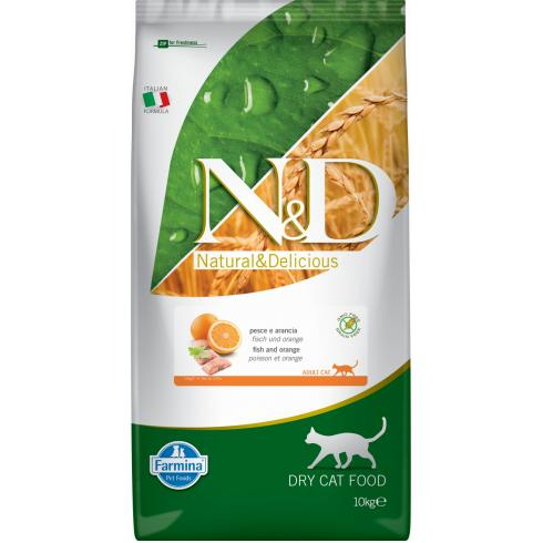 N&D Cat Grain Free hal&narancs 10kg