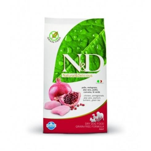 N&D Grain Free csirke&gránátalma adult medium 12kg