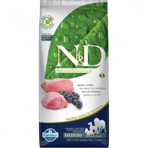 N&D Grain Free bárány&áfonya adult medium 12kg