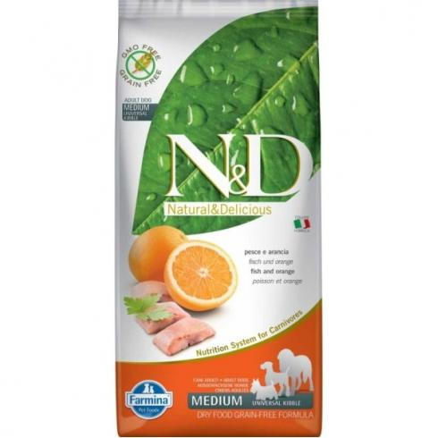 N&D Grain Free hal&narancs adult medium 12kg